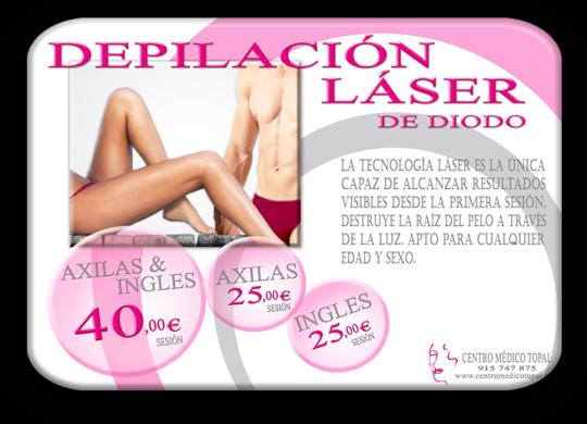 Centro Médico Estética Topal, Madrid, belleza y bienestar, Tratamiento,  Depilación Láser