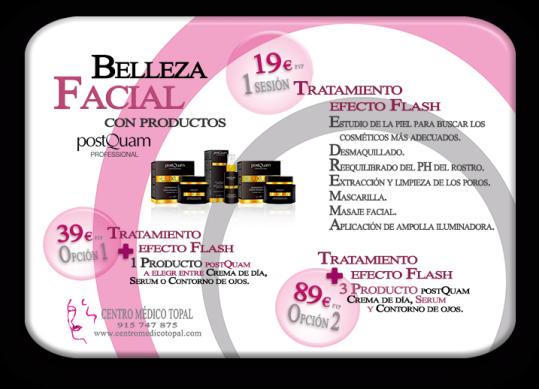 Centro Médico Estética Topal, Madrid, belleza y bienestar,  Productos_tratamiento_flash_facial